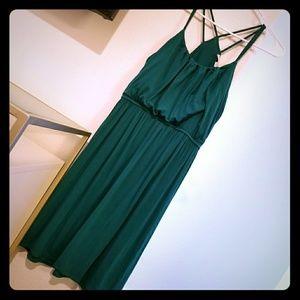 Teal Green Strappy Racerback Style Flowy Dress